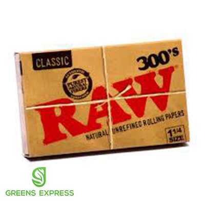 RAW 300'S CLASSIC NATURAL UNREFINED (1 1/4)