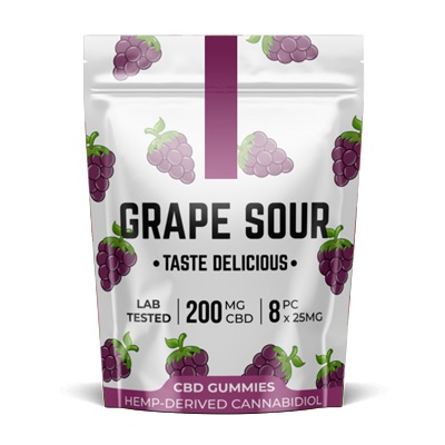 Pacific CBD Grape Sour 200mg