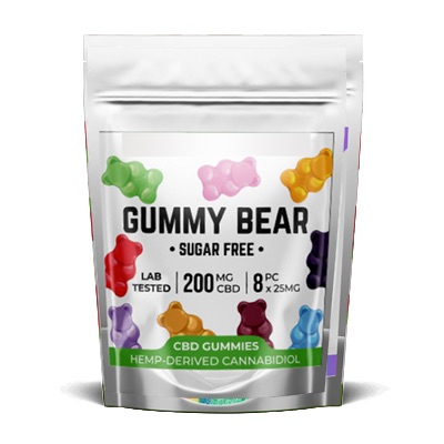 Pacific CBD Sugar Free Gummy Bears 200mg