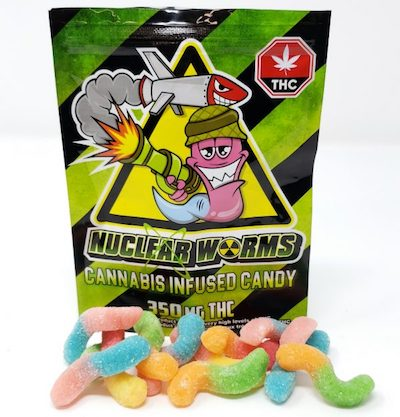 350MG Nuclear Sour Gummy Worms